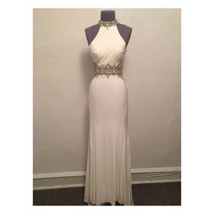 White Jersey Formal Gown